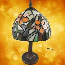 Tiffanylampe komplett Tisch Lampe Messing brüniert Weihnachtgeschenk Büromöbel