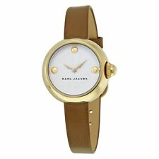 NWT MARC JACOBS Courtney Brown and Gold Tone Leather Women's Watch MJ1431 $200