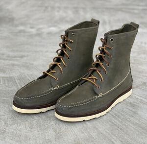 Oak Street Bootmakers Olive Horween Chamois Vibram Hunt Boot Size 11 NIB