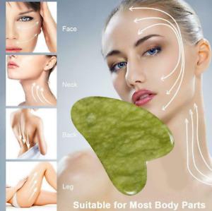 Jade Gua Sha Board Facial Body Massage Chinese Medicine Natural Scraping Tool