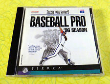 Front Page Sports Baseball Pro '96 Season  PC CD Rom Game  Vintage Sierra Sports