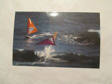 New ListingHawaii Postcard Wind surfing wave jumping competition Diamond Head Hi