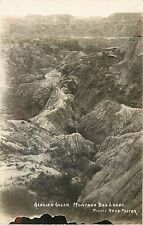 c1910 Real Photo Postcard; Glacier Gulch MT Montana Badlands, Foster, Unposted