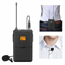 UHF Wireless Lavalier Lapel Mic System with Bodypack Transmitter and Receiver