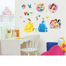 Disney Princess cindarella pegatinas de pared calcomanía children/nursery/kids / niñas habitación