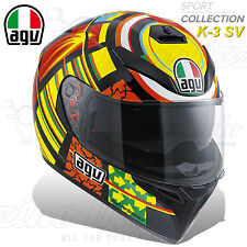 CASCO INTEGRALE MOTO AGV K3 K-3 SV PLK TOP REPLICA VALENTINO ROSSI ELEMENTS #46