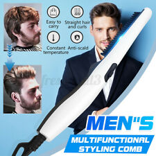 Quick Electric Mens Hair Beard Straightener Comb Styling Heated Women Styler ✔☆