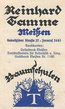 23/771 AK POSTKARTE BAUMSCHULE MEISSEN 1940 APFEL SCHATTENMORELLE RECHNUNG