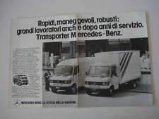 advertising Pubblicità 1984 MERCERDES BENZ TRASPORTER