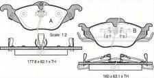 Plaquettes Freins AV TRISCAN OPEL ASTRA G Break (F35_) 1.6 75 CH