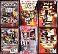 Vintage Set 3 Different Star Wars Valentines Trilogy Factory Sealed Box 92 Cards