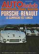 AUTO HEBDO n°52 du 3 Mars 1977 PORSCHE RENAULT