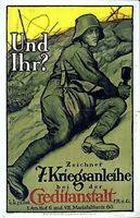 "German War Bond Poster ""AND YOU?"" WW 1"