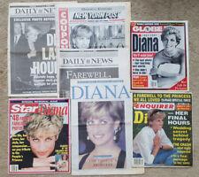 Princess Diana Euphemera Newspaper Back Issues Lot 7 Excellent