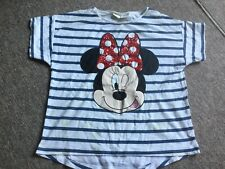 T-SHIRT DISNEY MINNIE NOEUD ROUGE SEQUINS TAILLe 7-8 ANS