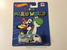 Hot Wheels Pop Culture Super Mario World VW T1 Panel Bus with real riders
