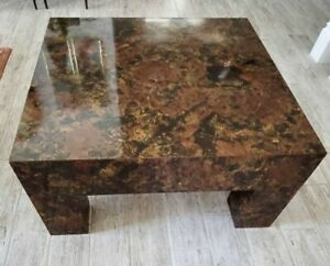 MCM BURL WOOD SQUARE COFFEE  TABLE MILO BAUGHMAN ATTRIBUTED