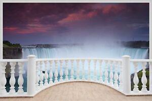 Huge 3D Balcony Niagra Falls Wall Sticker Mural Wallpaper S69