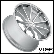 "20"" BLAQUE DIAMOND BD23 20X10 SILVER CONCAVE WHEELS RIMS FITS AUDI B8 A5 S5"