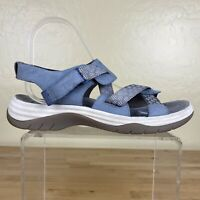 Bionica Nahla Chambray Sandals Womens Size 8.5 M Leather Strap
