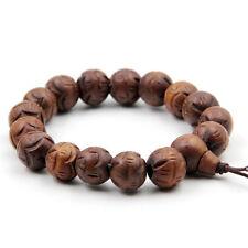12mm Jujube Wood Lotus Tibet Buddhist Prayer Beads Mala Bracelet