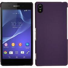 Funda Rígida Sony Xperia Z2 - goma púrpura + protector de pantalla