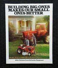 "1975 ALLIS-CHALMERS ""600 700 720 608LT 405 TRACTOR"" CATALOG SALES BROCHURE MINTY"