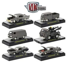 1:64 M2 Machines *TITANIUM  R1* COMPLETE SET of 6 CARS *VW 57 Chevy Wrecker++*