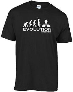 Evolution of man t-shirt EVOLUTION-MITSUBISHI t-shirt