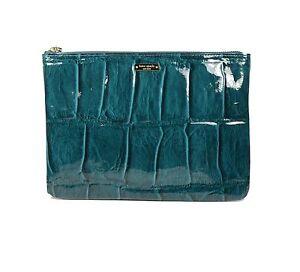 Kate Spade Bag Knightsbridge Gia Pouch Croco Embossed Patent Leather PWRU2217