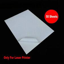 A4 Sticker Vinyl PVC Blank Sticker ONLY For Laser Printer Waterproof 50 Sheets