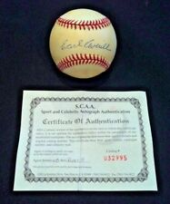 EARL AVERILL, Cleveland Indians HOF, single signed 1979 All-Star Game BB w/ COA