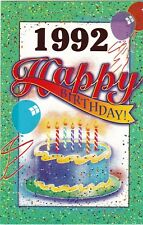 Birthday Card with Envelope 1992 Year of Birth