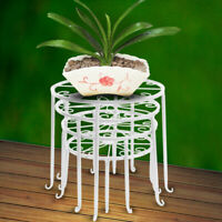 4 in 1 Wrought Iron Metal Plant Stands Flower Pot Rack Holder Indoor/Outdoor