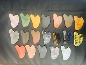 Genuine Gua Sha Facial Massage Anti-Ageing rose quartz jade face Slimming tool