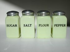 McKee Seville Yellow Shaker Set - Salt, Pepper, Flour, Sugar