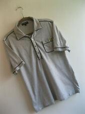 LYLE & SCOTT VINTAGE | Men's Grey Slim Fit 1/2 Placket POLO SHIRT | Size L