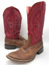 Ariat Red/Brown Leather Round Toe Cowboy Western Boots 8.5C