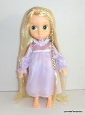 Disney Store Tangled Rapunzel Animators Doll Tinsel Hair Nightgown 1st Edition