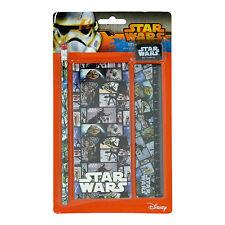 Star Wars película Bloques De 4 Piezas Set De Escritorio Lapicero, Pad, gobernante de Disney