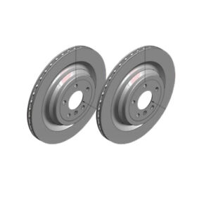 Zimmermann Rear Brake Disc Rotors 345mm 400.5501.20 fits Mercedes M-CLASS W166