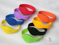 50pcs 13.56Mhz Smart Ic Silicone Wrist Band / Ic Watch Card Waterproof