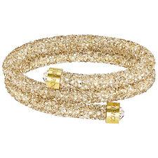 Swarovski 5255907 Crystaldust Double Gold Bangle Size S RRP$129
