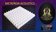 "Pyramid Acoustic Foam Studios Sound Absorption Wall Panels 12 Pack- 1""X 12""X 12"""