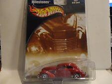 Hot Wheels Auto Milestones  Red 1937 810 Cord w/Real Riders