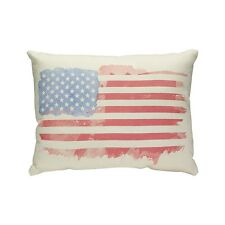 Collins American Flag Watercolor Throw Pillow NEW