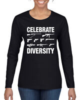 Celebrate Diversity Funny Gun Rights T Shirt Womens Long Sleeve T-Shirt