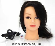 "18"" COSMETOLOGY MANNEQUIN HEAD 100% HUMAN HAIR WITH TABLE CLAMP"