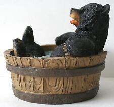 Bathtub Bear Figrurine Black Bear Comic Wildlife Home decor NEW IN BOX