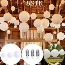 18X Papierlaterne Rund Lampenschirm Lampion Hängedekoration Deko Party Hochzeit